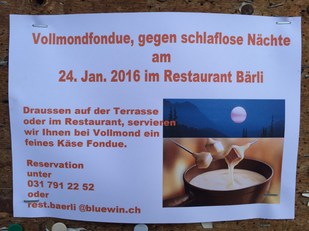 Flyer Vollmondfondue